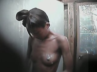 Asian girl in the shower..