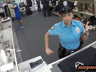 Lady police officer gets..