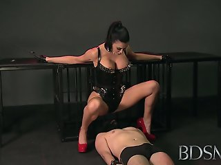 BDSM XXX Mistress treats her..