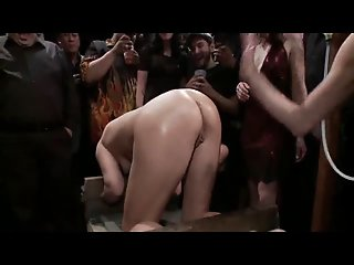 Public slave anal drilling 1..