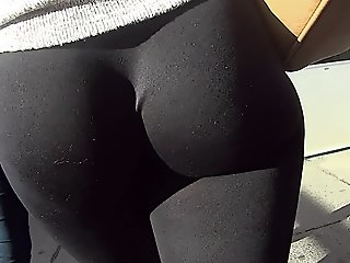 Leggings Show Off Her Lovely..
