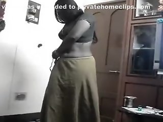 Telugu Aunty on Her Knees..